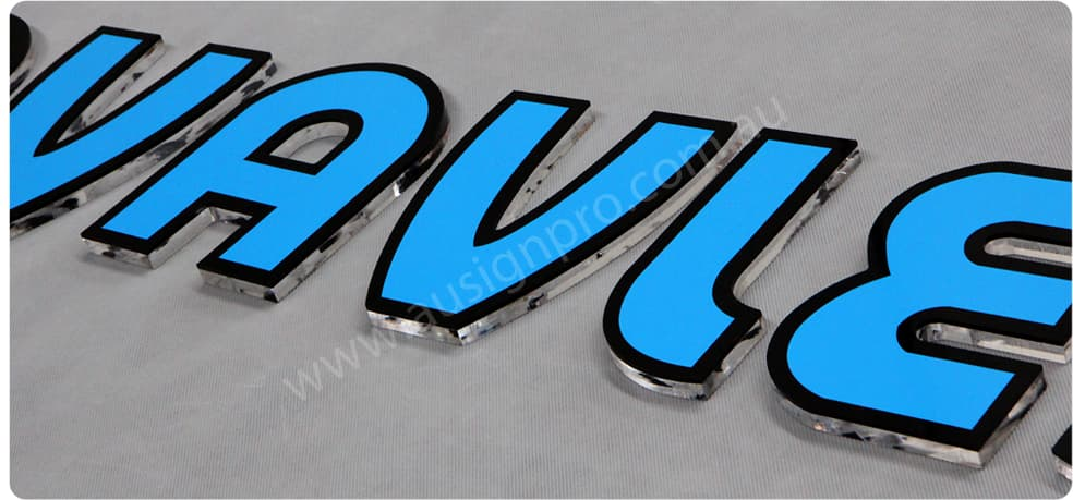 Acrylic letter perspex letter melbourne australia for Acrylic dimensional letters
