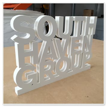 pvc letters in one piece