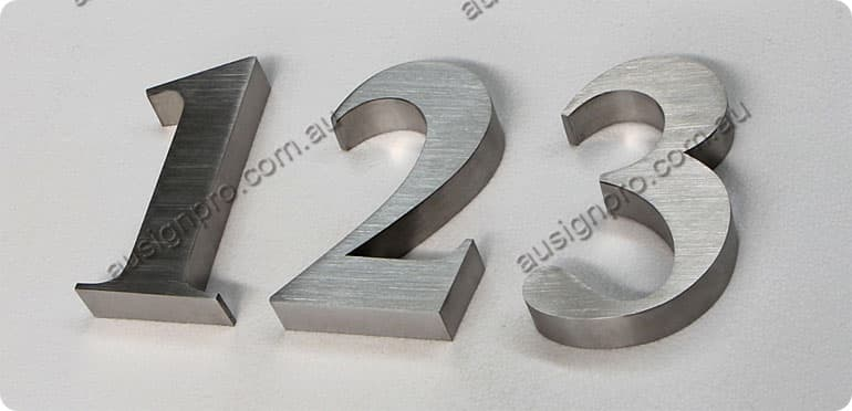 Stainless Steel House Number Stainless Steel Street
