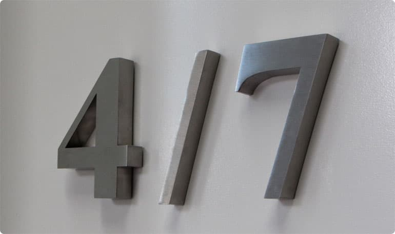 house number letters