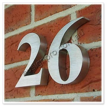 Stainless Steel House Numberstainless Steel Street Lettersmetal - Cheap metal house numbers