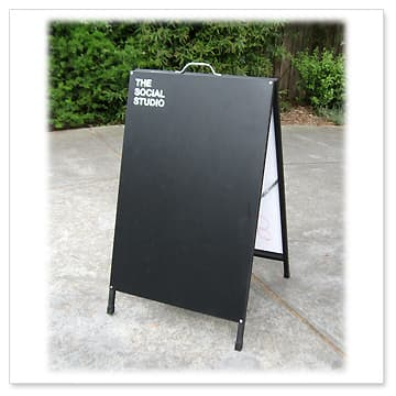 Black Board A Board Blackboard Sandwich Boards A Frame