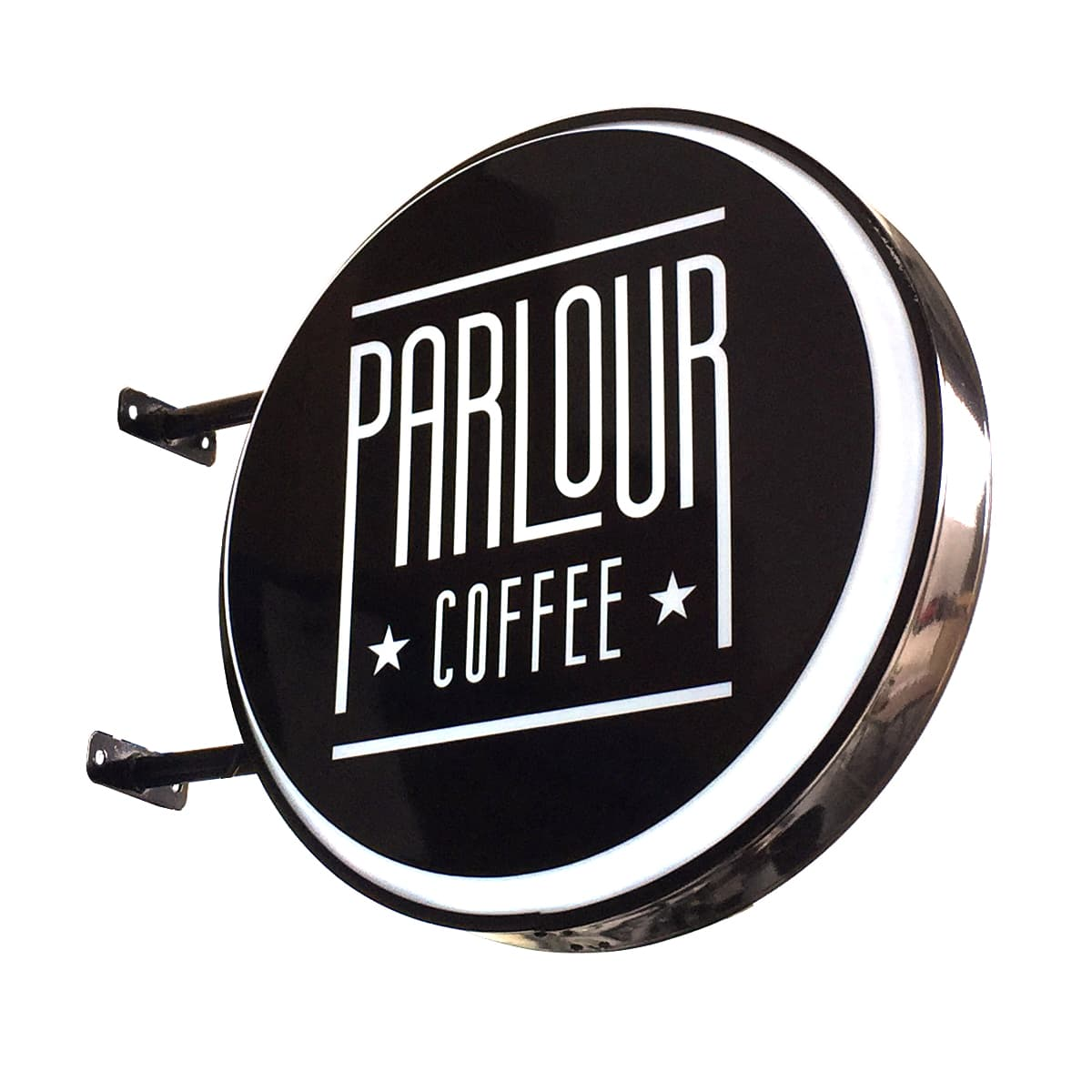 Circular Light Box Round Shape Signs Shop Front Signages