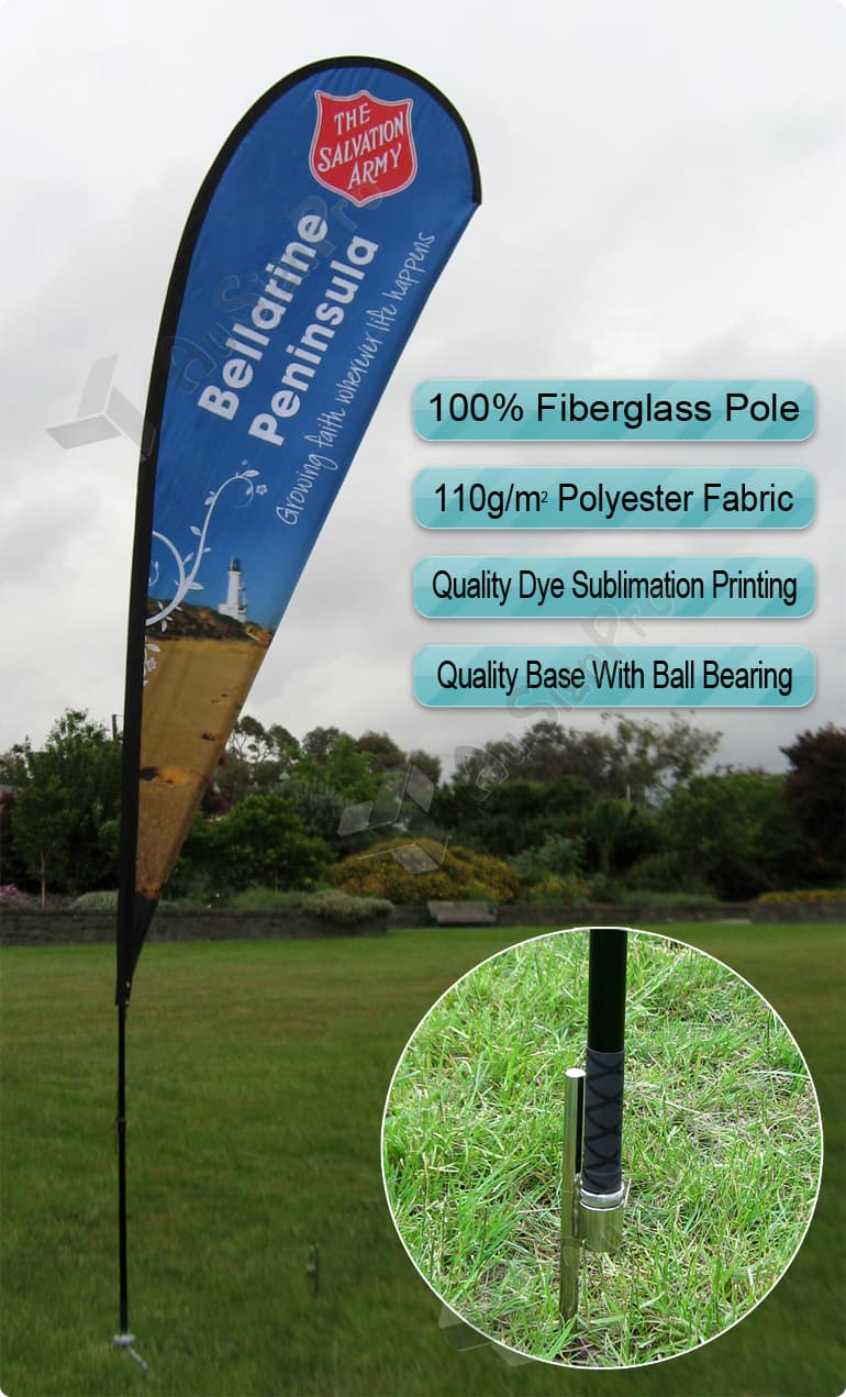 Cheap Quality Flying Banner Teardrop Flag Banner Feather