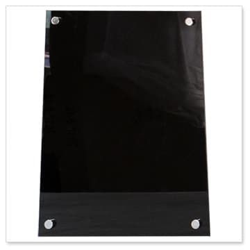 Black Acrylic Menu Boards Menu Display Panels Perspex