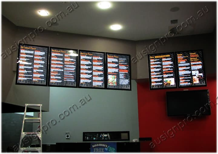 led menu boards slim light box menu display light box in melbourne