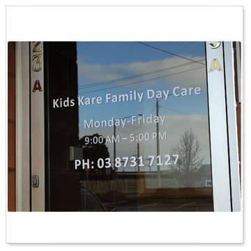 Window graphics window decals glass frosting etching static cling stickers in melbourne - Glass office door signs ...